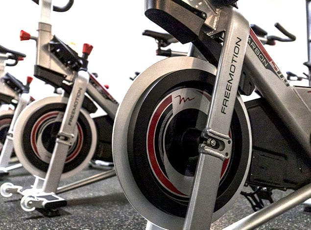 spinning class at our indoor cycle studio in Mechanicsville
