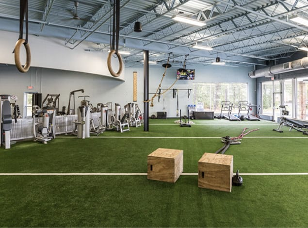 high intense training at meadow brook golds gym area